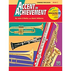 Alfred Accent on Achievement Book 2 Combined PercussionS.D. B.D. Access. Timp. & Mallet Percussion Book & C (00-18273)