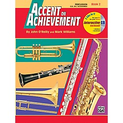 Alfred Accent on Achievement Book 2 PercussionSnare Drum Bass Drum & Accessories Book & CD (00-18271)