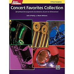 Alfred Accent on Performance Concert Favorites Collection Tenor Sax Book (00-41391)