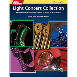 Alfred Accent on Performance Light Concert Collection Tenor Sax Book (00-41351)