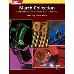 Alfred Accent on Performance March Collection Percussion 1 Book (00-41365)