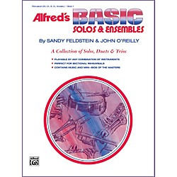 Alfred Alfred's Basic Solos and Ensembles Book 1 Percussion Snare Drum Bass Drum & Accessories (00-1672)