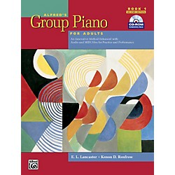 Alfred Alfred's Group Piano for Adults Student Book 1 (2nd Edition) Book 1 with CD-ROM (00-30368)