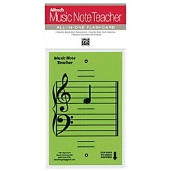 Alfred Alfred's Music Note Teacher All-In-One Flashcard Green (99-MNT004)