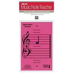 Alfred Alfred's Music Note Teacher All-In-One Flashcard Pink (99-MNT006)