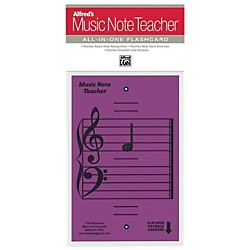 Alfred Alfred's Music Note Teacher All-In-One Flashcard Purple (99-MNT005)
