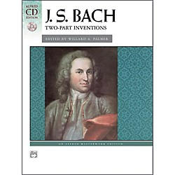 Alfred Bach Two-Part Inventions Intermediate / Late Intermediate Book & CD Piano (00-22528)