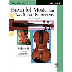 Alfred Beautiful Music for Two String Instruments Book II 2 Violins (00-EL01324)