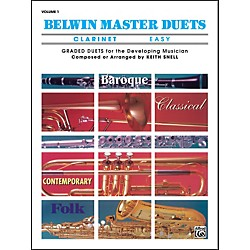 Alfred Belwin Master Duets (Clarinet) Easy Volume 1 (00-EL03271)