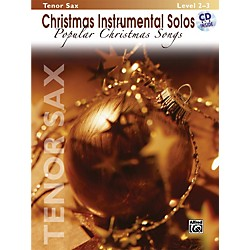 Alfred Christmas Instrumental Solos Popular Christmas Songs Tenor Sax Book & CD (00-28334)