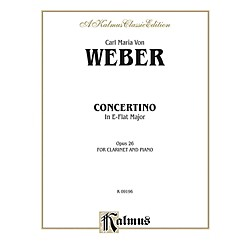 Alfred Concertino for Clarinet in A-Flat Major Op. 26 for Clarinet By Carl Maria von Weber Book (00-K03936)