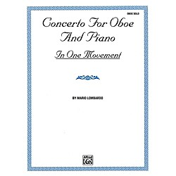 Alfred Concerto for Oboe and Piano In One Movement By Mario Lombardo Book (00-EL9544)