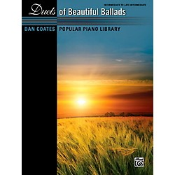Alfred Dan Coates Popular Piano Library Duets of Beautiful Ballads Book (00-42687)