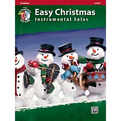 Alfred Easy Christmas Instrumental Solos Level 1 Trombone Book & CD (00-33289)