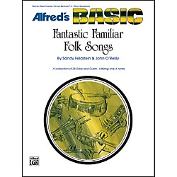 Alfred Fantastic Familiar Folk Songs B-Flat Instruments (Clarinet Bass Clarinet Cornet Baritone T.C. Tenor (00-474)