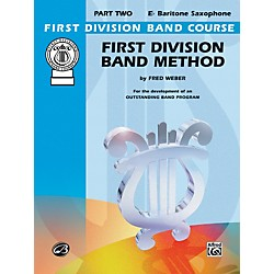 Alfred First Division Band Method Part 2 E-Flat Baritone Saxophone Book (00-FDL00103A)