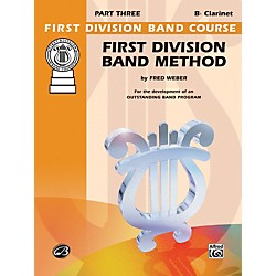 Alfred First Division Band Method Part 3 B-Flat Clarinet (00-FDL00168A)
