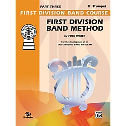 Alfred First Division Band Method Part 3 B-Flat Cornet (Trumpet) (00-FDL00176A)