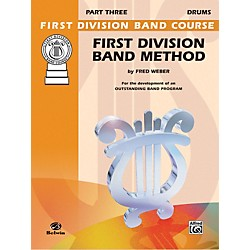 Alfred First Division Band Method Part 3 Drums (00-FDL00183A)