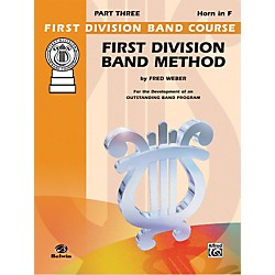 Alfred First Division Band Method Part 3 Horn in F (00-FDL00177A)