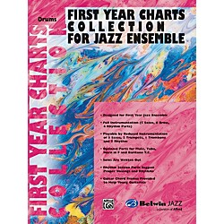 Alfred First Year Charts Collection for Jazz Ensemble Drums (00-SBM01015)