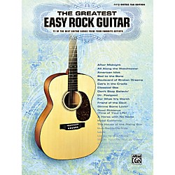 Alfred Greatest Easy Rock Guitar Tab Songbook (701555)