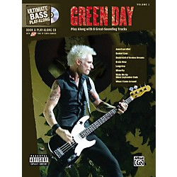 Alfred Green Day Ultimate Play-Along Bass Guitar Tab Songbook with Enhanced CD (700161)