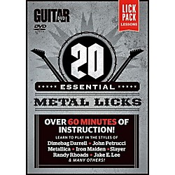 Alfred Guitar World 20 Essential Metal Licks DVD (56-41085)