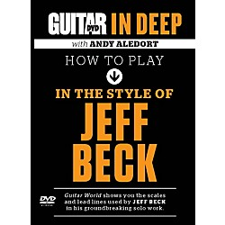 Alfred Guitar World in Deep: How to Play in the Style of Jeff Beck DVD (56-39024)