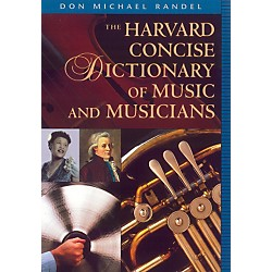 "Alfred Harvard Concise Dictionary of Music and Musicians 9"" x 6 1/4"" Format (43-0674009789)"