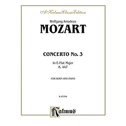 Alfred Horn Concerto No. 3 in E-Flat Major K. 447 for French Horn By Wolfgang Amadeus Mozart Book (00-K03709)