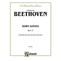 Alfred Horn Sonata Op. 17 for French Horn By Ludwig van Beethoven Book (00-K09269)
