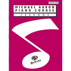 Alfred Michael Aaron Piano Course Lessons Grade 4 (00-11004A)