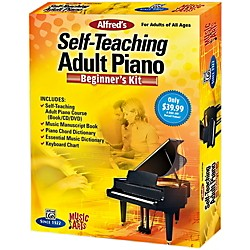 Alfred Music & Arts Self-Teaching Adult Piano Beginner's Kit (00-42341)