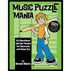 Alfred Music Puzzle Mania Book & CD (00-34727)