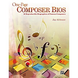 Alfred One-Page Composer Bios - 50 Reproducible Biographies of Famous Composers (Book) (00-31263)