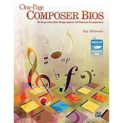 Alfred One-Page Composer Bios Book & Data CD (00-40033)