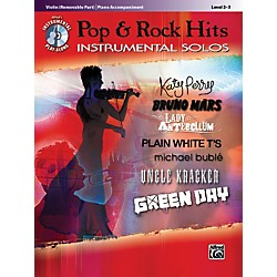 Alfred Pop & Rock Hits Instrumental Solos Violin Book & CD (00-37439)
