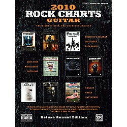 Alfred Rock Charts Guitar 2010 Deluxe Annual Edition Guitar Tab Book (00-34374)