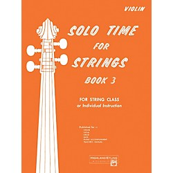 Alfred Solo Time for Strings Book 3 Violin (00-13075)