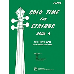 Alfred Solo Time for Strings Book 4 Piano Acc. (00-13086)