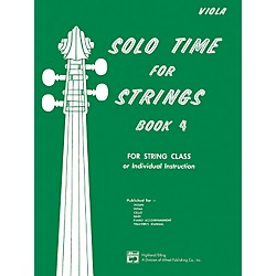 Alfred Solo Time for Strings Book 4 Viola (00-13083)