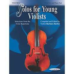 Alfred Solos for Young Violists Vol. 3 (Book) (00-18670X)