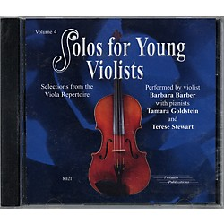 Alfred Solos for Young Violists Vol. 4 (CD) (00-8021)