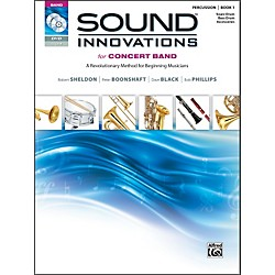 Alfred Sound Innovations for Concert Band Book 1 Perc Snare Bass Drum Bk CD/ DVD (00-34543)