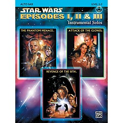 Alfred Star Wars Episodes I, II & III Instrumental Solos - Alto Sax (Book/CD) (00-IFM0521CD)