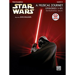 Alfred Star Wars Instrumental Solos (Movies I-VI) Tenor Sax Book & CD (00-32110)