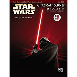 Alfred Star Wars Violin Instrumental Solos for Strings (Movies I-VI) Book & CD (00-32125)