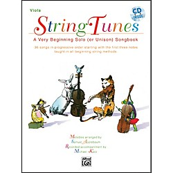 Alfred StringTunes - A Very Beginning Solo (or Unison) Songbook Viola Book & CD (00-EL03985CD)