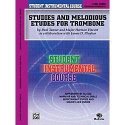 Alfred Student Instrumental Course: Studies and Melodious Etudes for Trombone, Level III (00-BIC00357A)